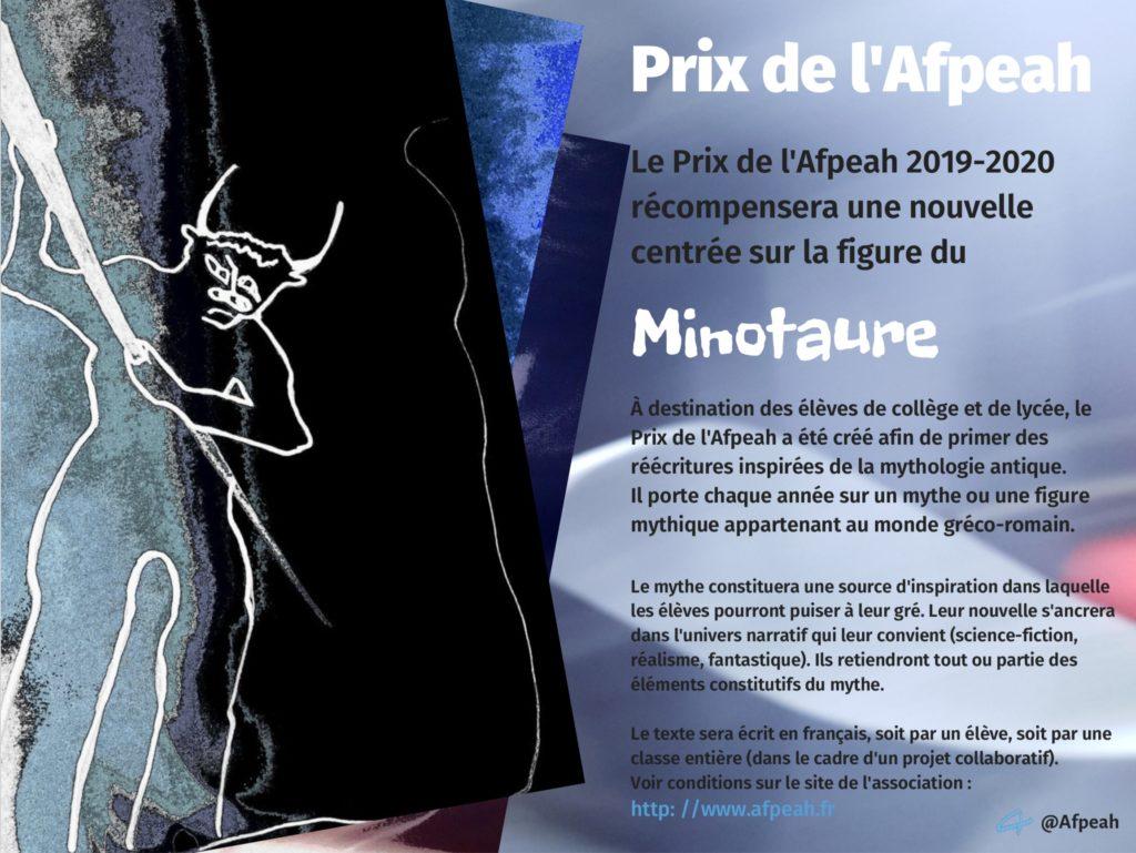 Minotaure  Prix de l'Afpeah 2019-2020